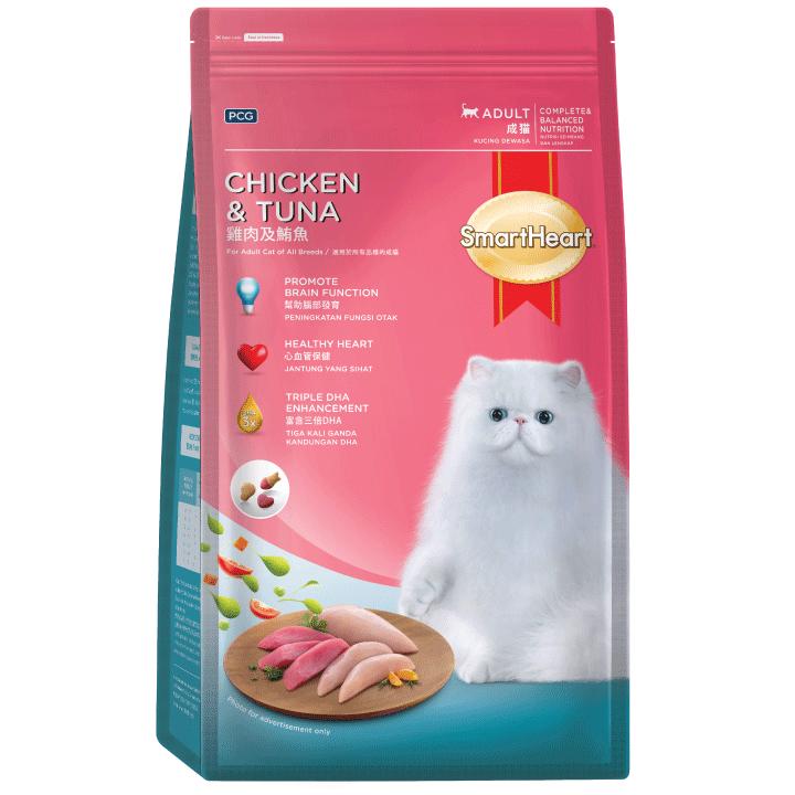 SmartHeart Adult Cat Food Chicken & Tuna