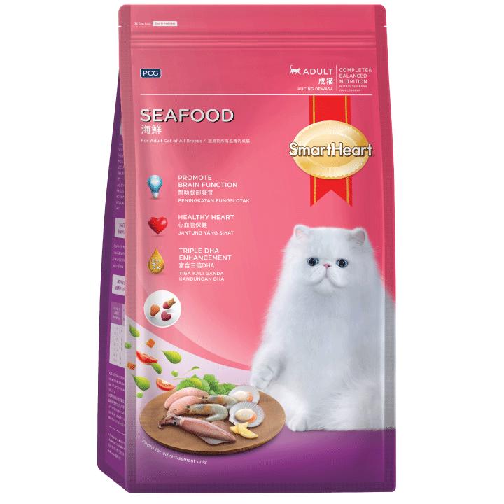 SmartHeart Adult Cat Food Seafood